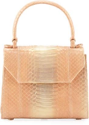 Nancy Gonzalez Lily Small Snakeskin Top Handle Bag