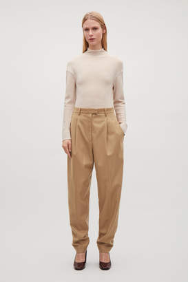 Cos HEAVYWEIGHT WOOL TAPERED TROUSERS