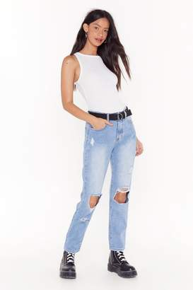 Nasty Gal Distress With the Best Ripped High-Waisted Jeans