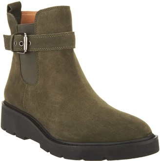 Franco Sarto Suede Side Buckle Ankle Boots - Meridian