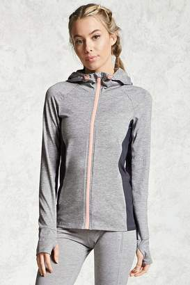 Forever 21 Active Heathered Hooded Jacket