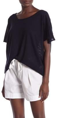 Vince Textured Stripe Short Sleeve Shirt