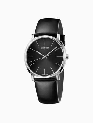 Calvin Klein posh leather watch