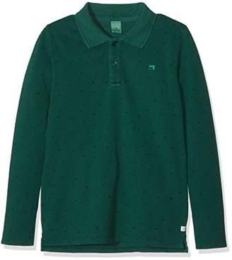 Scotch & Soda Shrunk Boy's Garment Dyed Long Sleeve Polo Shirt,(Size: 10)