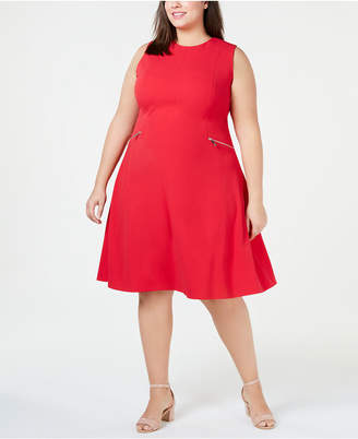 02818dbaae7 Tommy Hilfiger Plus Size Zip-Pocket A-Line Dress