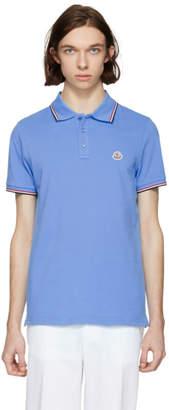 Moncler Blue Maglia Polo