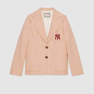 Gucci Silk wool jacket with NY Yankees patch