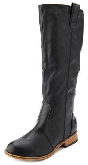 Charlotte Russe Flat Mid-Calf Riding Boot