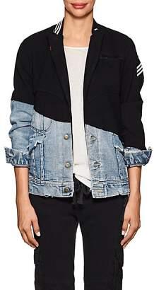 Greg Lauren Women's Wool & Denim Slim Jacket