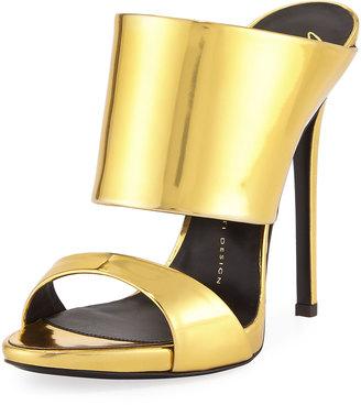Giuseppe Zanotti Coline Slide Dress Sandal, Shooting Oro $450 thestylecure.com