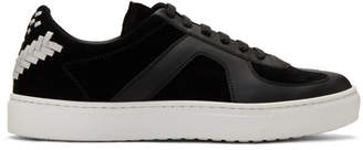 Bottega Veneta Black Calf and Suede Sneakers
