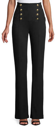 Escada High-Waist Straight-Leg Jersey Sailor Pants