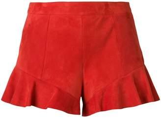 Drome ruffled hem shorts