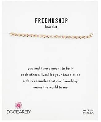 Dogeared Friendship Bracelet, Flat Bead On Silk Thread