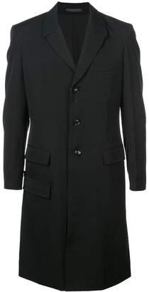 Yohji Yamamoto boxy single-breasted coat