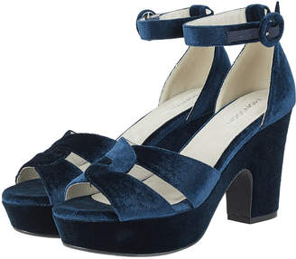 Monsoon Vanya Velvet Platform Sandals