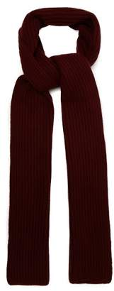 Gabriela Hearst - Ribbed Knit Cashmere Scarf - Womens - Burgundy