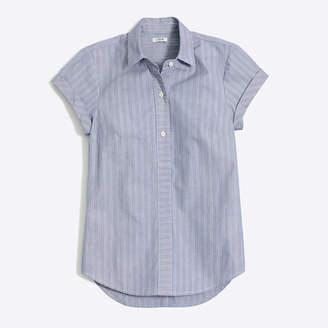 J.Crew Factory Striped short-sleeve popover shirt