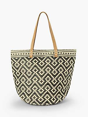 f2bc13e4ea John Lewis & Partners Large Jute Cotton Shopper Bag, Grey Mix