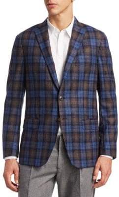 Saks Fifth Avenue COLLECTION Plaid Jacket
