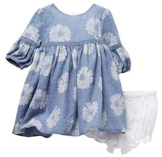 Pippa Pastourelle by and Julie Long Sleeve Floral Print Dress Set (0-9M)