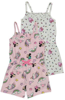 Disney George Minnie Mouse Unicorn Playsuits 2 Pack