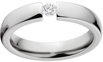 Generic 1/10 Carat T.G.W. Round CZ Titanium Tension-Set Engagement Ring with Comfort Fit Design