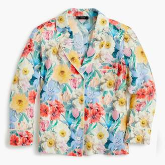 J.Crew Collection silk pajama shirt in Liberty® melody floral