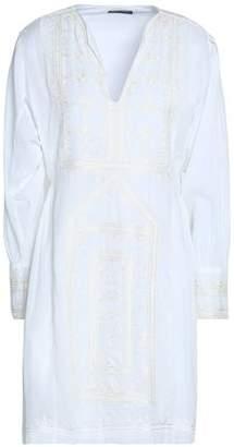 Antik Batik Embroidered Cotton-Voile Mini Dress
