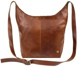 MAHI Leather - Leather Dixie Boho Tote Bag Shoulder/Across Body Handbag In Vintage Brown