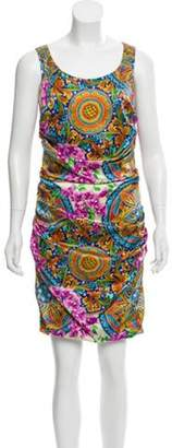 Dolce & Gabbana Printed Silk Dress violet Printed Silk Dress