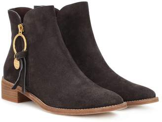 See by Chloe Louise Flat suede ankle boots