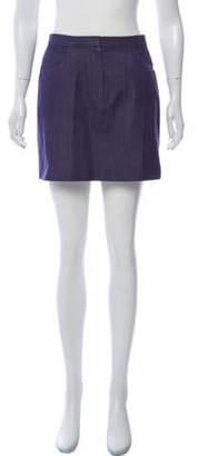 Marc Jacobs Chambray Mini Skirt Blue Chambray Mini Skirt