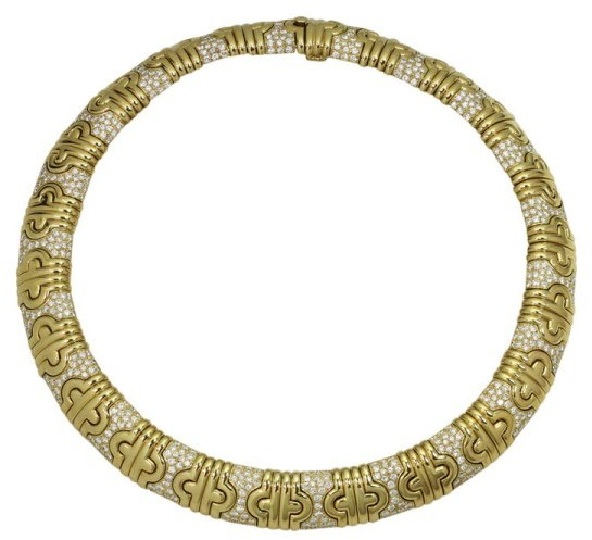 Bvlgari Bulgari 18K Yellow Gold Parenthesis Diamond Necklace