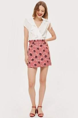 Topshop Petite Poppy Jacquard Skirt