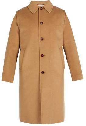 Gucci Embroidered Felt Overcoat - Mens - Beige