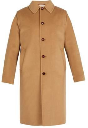 Gucci - Embroidered Felt Overcoat - Mens - Beige