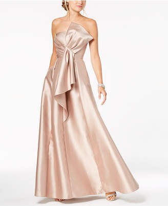 Adrianna Papell Strapless Bow-Detail Gown