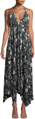 Kate Spade deep-v floral-print maxi coverup dress
