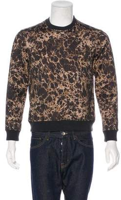 Alexander McQueen Graphic Print Crew Neck Sweater