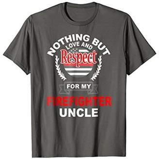 Firefighter Uncle Fireman Appreciation Support T-Shirt
