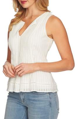 Cynthia Steffe CeCe by Striped Pintuck Cotton Blouse
