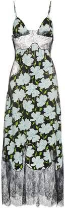 Off-White floral lace trim midi slip dress