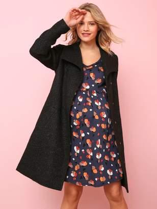 62e09c049a0e3 Vertbaudet Maternity Coat in Iridescent Woollen Fabric