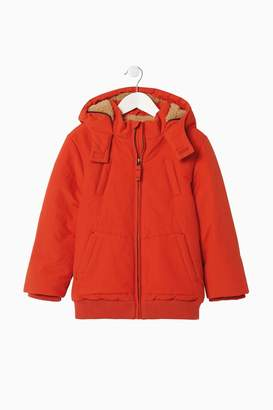 Fat Face Boys FatFace Orange Teddy Bomber Jacket - Orange