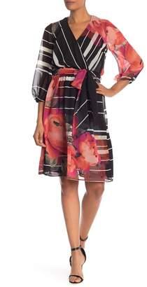 Trina Turk Rosa Chiffon Surplice Dress