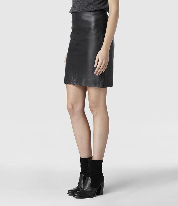 AllSaints Lucille Leather Skirt