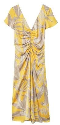 MANGO Draped floral dress