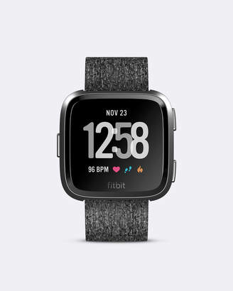 Fitbit Versa Watch Charcoal Woven Special Edition