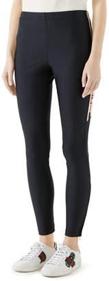 Gucci Shiny Jersey Leggings w Sport Trim